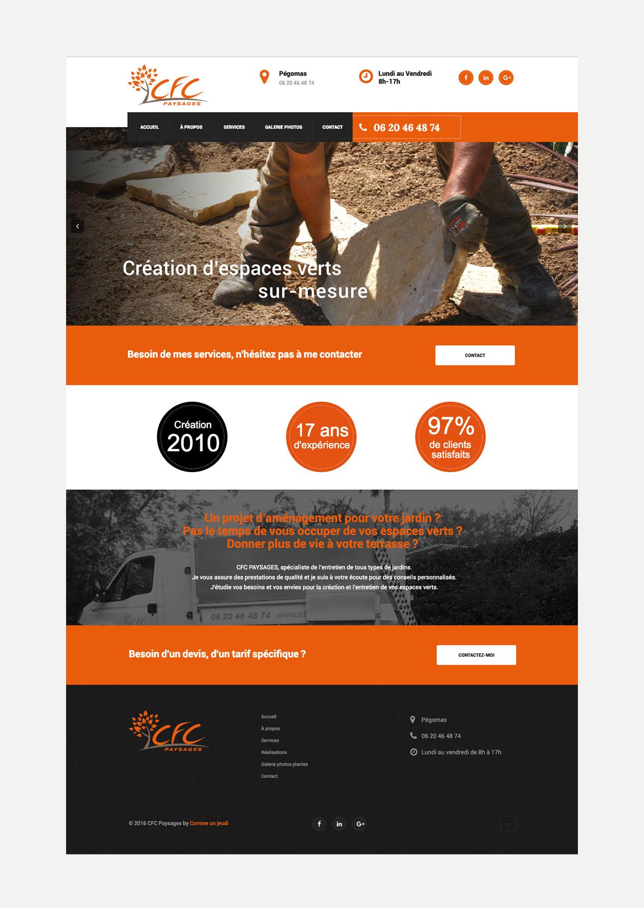 Mise en page page site web