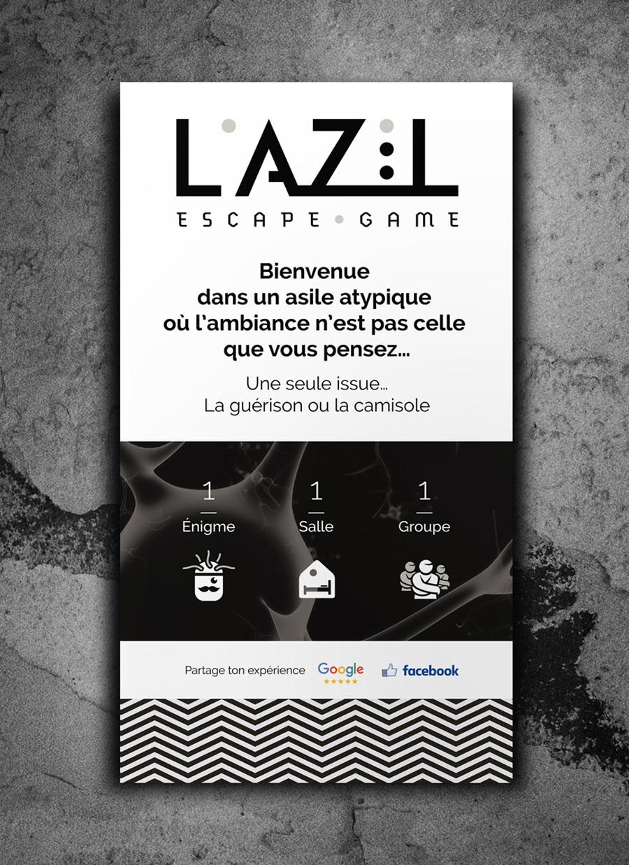 Signalétique panneau L'Azil Escape Game