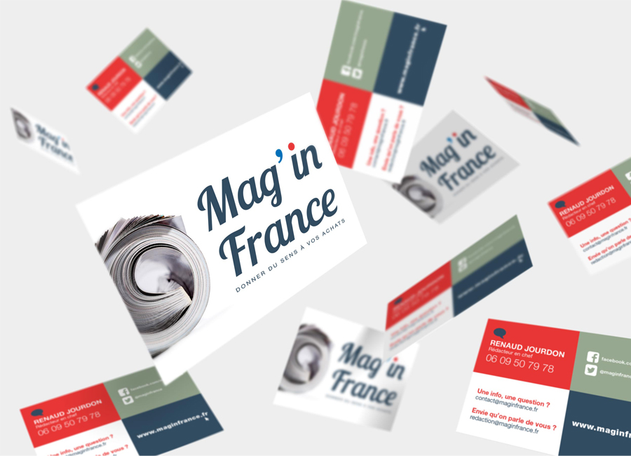 Cartes de visite Mag in france, Print Speed Offset