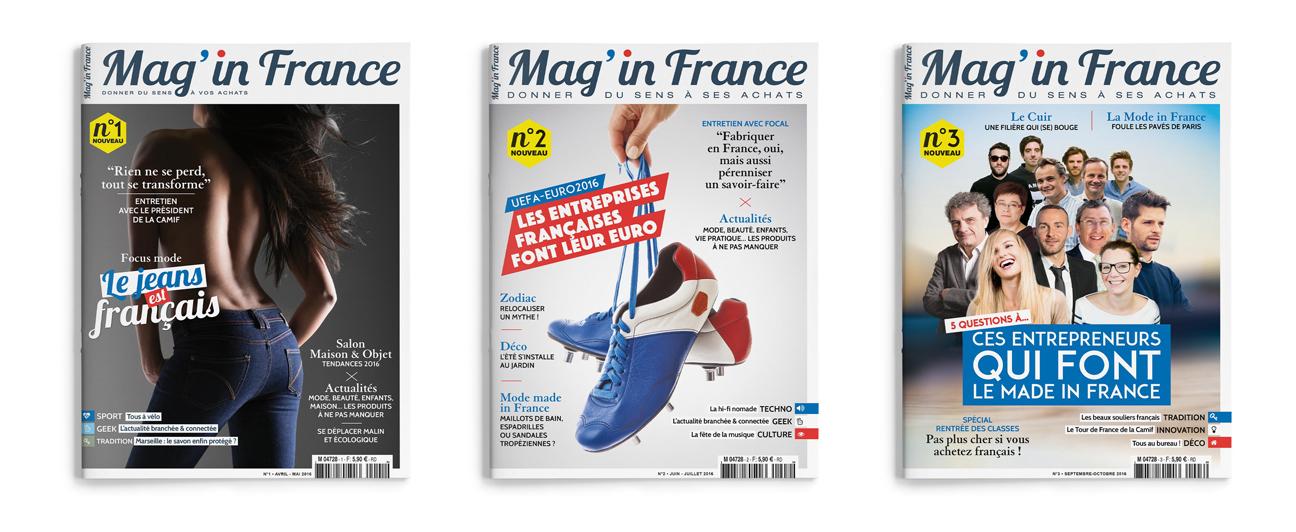Conception couvertures magazine